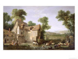 The Farm, 1750 Giclee Print by Jean-Baptiste Oudry