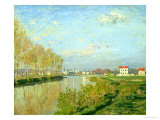 The Seine at Argenteuil, 1873 Giclee Print by Claude Monet