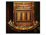 Ceremonial Chair of Tutankhamun, Detail of the Curved Seat and Back, New Kingdom, c.1325 BC Reproduction procédé giclée par Egyptian 18th Dynasty