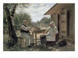 Making Jam, 1876 Giclee Print by Vladimir Egorovic Makovsky