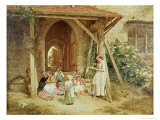 Playing at Schools, 1857 Giclee Print by Charles James Lewis