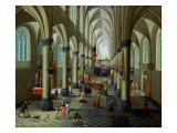 Interior of a Church Giclee Print by Pieter Neeffs the Elder