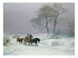 The Wintry Road to Market Giclee Print by Thomas Sidney Cooper