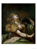 Cleopatra Committing Suicide Giclee Print by Claude Vignon