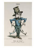 Pas Le Sou! Si J&#39;allais Chez Miss Howard, Caricature of Louis-Napoleon Bonaparte Giclee Print by Charles Frondat