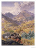 The Val D'Aosta, 1858 Giclee Print by John Brett