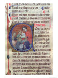 Teacher with Pupils, Within an Historiated Capital C, 14-15th Century Giclee Print by Fra Antoni Canals
