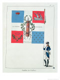 Flag of the Feillant Battalion, 1790 Gicl&#233;e-Druck von Raymond-augustin Vielh De Varennes