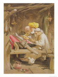 Cashmere Shawls: Weaving, 1863 Giclee Print by William Simpson