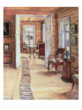 Interior of L. Panteleev's House in Murmanov, 1913 Giclee Print by Anna Nikolaeva Karinskaya