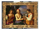 Lot and His Daughters Giclee Print by  Guercino