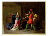 Fredegunde Arming the Assassins of Sigebert Giclee Print by Emmanuel Wallet