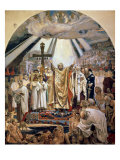Baptism of Rus, 1885-96 Gicl&#233;e-Druck von Victor Mikhailovich Vasnetsov