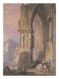 Porch of Regensburg Cathedral Giclee Print by Samuel Prout