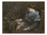 The Sleeping Embroiderer, 1853 Giclee Print by Gustave Courbet