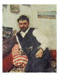 Portrait of Konstantin Korovin Giclee Print by Valentin Aleksandrovich Serov