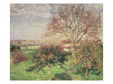 Autumn Morning at Eragny, 1897 Giclee Print by Camille Pissarro