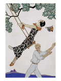 The Swing, 1920S Giclee Print by Georges Barbier
