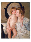 Mother and Boy Giclee Print by Mary Cassatt