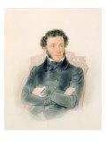 Portrait of Alexander Pushkin Giclee Print by Piotr Ivanovich Sokolov