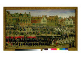 Procession of the Maids of the Sablon in Brussels Giclee Print by Antoine Or Anthonis Sallaert