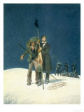 Charles Fellows and William Hawes, Plants a Baton on the Summit Giclee Print by W.s. Hastings