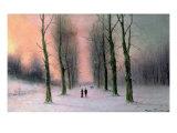 Snow Scene-Wanstead Park Giclee Print by Nils Hans Christiansen