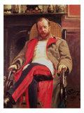 Portrait of Zesar Kjui Giclee Print by Ilya Efimovich Repin