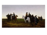 Cossacks on Horseback, 1874 Giclee Print by Jan Van Chelminski