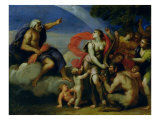 Jupiter and Pandora Giclee Print by Francesco Albani