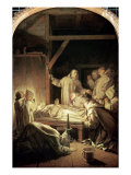 The Death of St. Bruno Giclee Print by Eustache Le Sueur