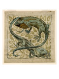 Lizards, Design For a Tile Giclee Print by William de Morgan