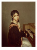 The Artist's Daughter at the Piano Giclee Print by Domingos Antonio De Sequeira