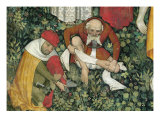 The Fountain of Life, Detail of Elderly Men Undressing, 1418-30 Giclee Print by Giacomo Jaquerio