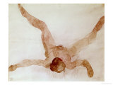 Nude Female Lying on Her Back Giclee Print by Auguste Rodin