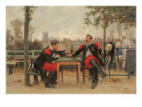 The Commander's Feast, 1875 Giclee Print by Alphonse Marie de Neuville