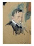 Self Portrait, 1901 Giclee Print by Valentin Aleksandrovich Serov