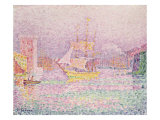 Port of Marseille, 1906-07 Giclee Print by Paul Signac