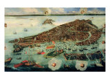 Bird's Eye View of Venice Giclee Print by Joseph Heintz