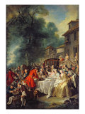 The Hunt Lunch, 1737 Giclee Print by Jean Francois de Troy