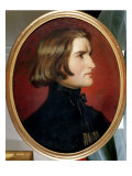 Portrait of Franz Liszt Giclee Print by Charles Edouard Boutibonne