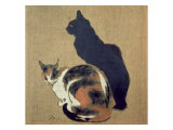 Two Cats, 1894 Giclee Print by Th&#233;ophile Alexandre Steinlen