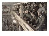 Public Meeting in Paris, 1885 Giclee Print by Charles Paul Renouard
