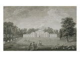 View of the Palace at Kew from the Lawn, Engraved by William Woollett Giclee Print by John Joshua Kirby