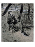 Alexander Pushkin Giclee Print by Valentin Aleksandrovich Serov