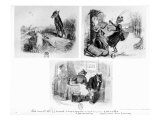 Three Animal Tales from Fables by Jean de La Fontaine Giclee Print by Grandville