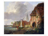 The March Gate in Buxtehude, 1830 Giclee Print by Adolph Kiste