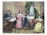 The Family Concert, c.1840 Giclee Print by Achille Deveria