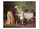 Breakfast Time - Morning Games Giclee Print by Charles West Cope