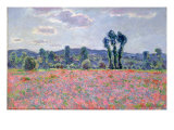 Poppy Field, 1887 Giclee Print by Claude Monet